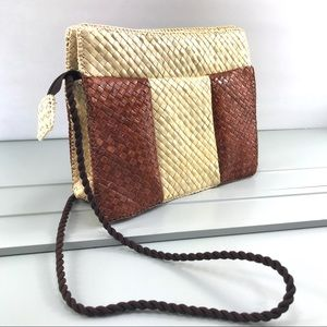 Handbags - Vintage Woven Straw Wicker Shoulder Bag